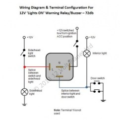 Wiring Three Way Switch Diagram 240sx Stereo 12v 'lights-on' Warning Relay/buzzer 72db | 12 Volt Planet